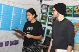 Students from the Human Rights Club