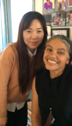 Stephanie Kwon and Grade 5 Teacher Monique Marshall